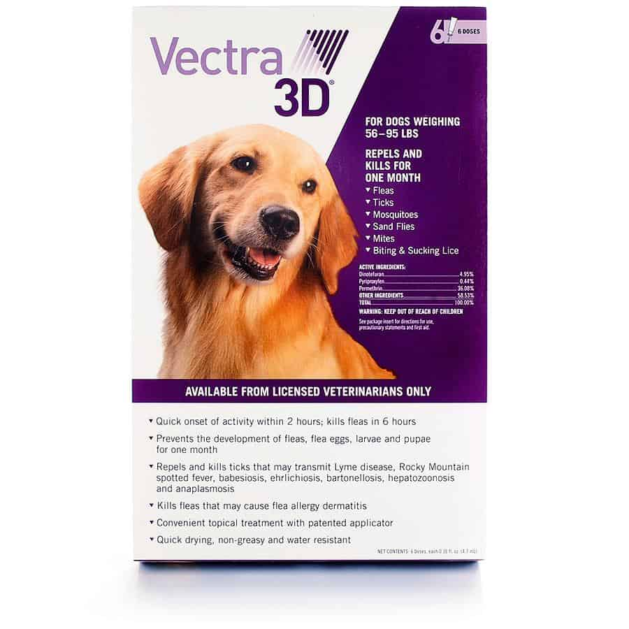 Vectra 3D Flea and Tick treatment topical medication review pros cons