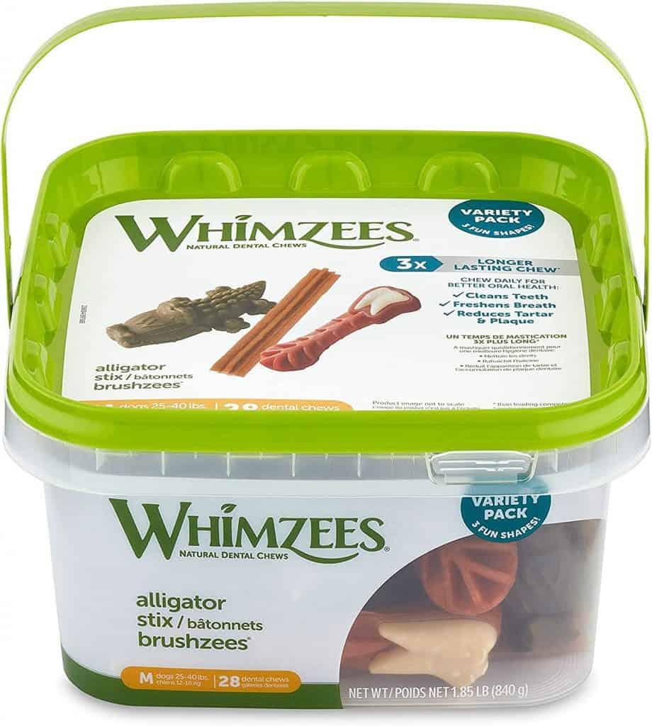 Whimzees Dental Treats variety pack healthy dental treat rawhide alternative