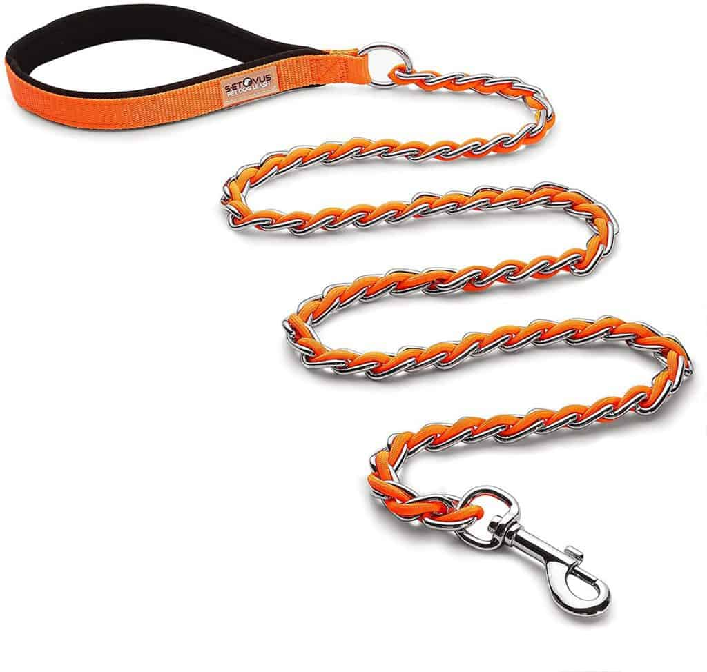 S-ETOVUS chain rope leash withstands aggresively chewing dogs